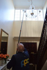 Internal pole cleaning