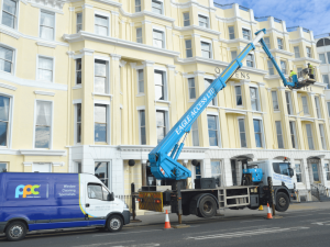 Cherry picker and window cleaner